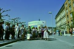 Vreedzame vrolijke trotsgebeurtenis in Duitsland Stock Afbeelding