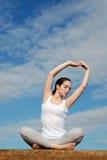 Vreedzame yoga Stock Afbeeldingen