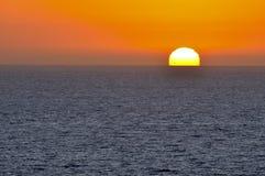 Vreedzame Zonsondergang Stock Afbeelding
