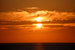 Vreedzame Zonsondergang stock foto