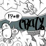 Vreemd graffitibeeld Royalty-vrije Stock Fotografie