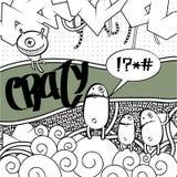 Vreemd graffitibeeld Royalty-vrije Stock Afbeeldingen