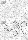Vreemd labyrint royalty-vrije illustratie