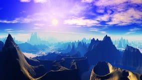 Vreemd landschap Stock Foto