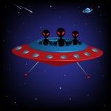 Vreemd ruimteschip Royalty-vrije Stock Afbeelding