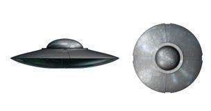 Vreemd UFOruimteschip royalty-vrije illustratie