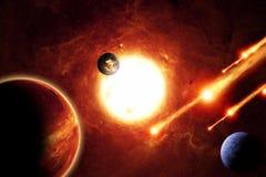 Vreemd zonnestelsel Stock Foto's