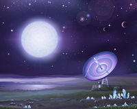 Vreemde astronomie stock illustratie