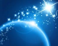 Vreemde blauwe planeet Stock Afbeelding