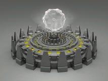 Vreemde fantasie onbekende futuristische machine Vector Illustratie