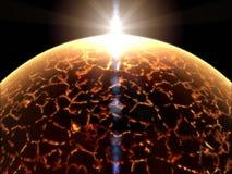 Vreemde fantasie onbekende zon Stock Illustratie