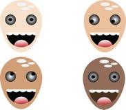 Vreemde gezichten Royalty-vrije Stock Foto