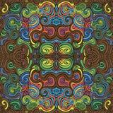 Vreemde golvende kleurrijke achtergrond Royalty-vrije Stock Afbeeldingen