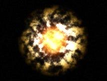 Vreemde heldere fantasie onbekende zon Vector Illustratie