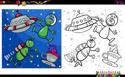 Vreemde karakters die pagina kleuren Stock Afbeeldingen