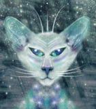 Vreemde kat stock illustratie