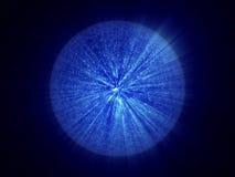 Vreemde micro- blauwe fantasie onbekende cel Royalty-vrije Illustratie