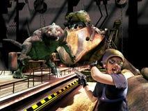 Vreemde monsters stock illustratie