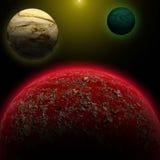 Vreemde planeet Stock Afbeeldingen