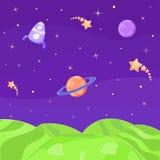 Vreemde Planeet. Kosmisch Landschap royalty-vrije illustratie