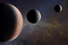 Vreemde planeten in de kosmische ruimte Elementen van dit die beeld door NASA wordt geleverd royalty-vrije illustratie