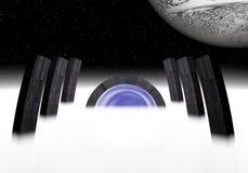 Vreemde poort aan sterren 2 vector illustratie