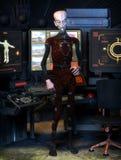 Vreemde science fiction Stock Afbeelding