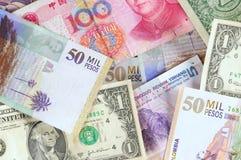 Vreemde valuta's. Stock Foto's
