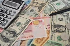 vreemde valuta's stock afbeelding