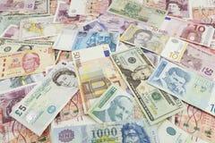 Vreemde valutabankbiljet Stock Afbeeldingen