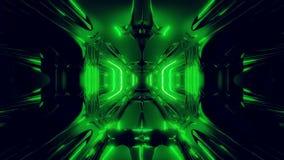 Vreemde van het de tunnelbehang van de schipgang 3d teruggevende 3d de illustratie vj lijn vector illustratie