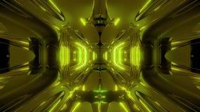 Vreemde van het de tunnelbehang van de schipgang 3d teruggevende 3d de illustratie vj lijn stock video