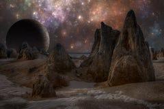 Vreemde vreemde planeet royalty-vrije illustratie