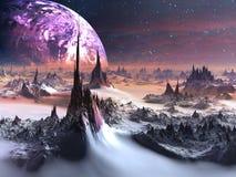 Vreemde Wereld in de Winter Royalty-vrije Stock Afbeelding