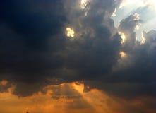 Vreemde wolken Royalty-vrije Stock Foto