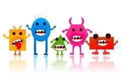 Vreemdeling en Monster Stock Foto