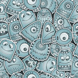 Vreemdeling en monsters naadloos patroon Stock Foto