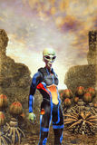 Vreemdeling op homeworldplaneet Royalty-vrije Stock Foto