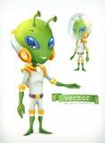 Vreemdeling in spacesuit Karakter vectorpictogram stock illustratie
