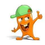 Vreemdeling van het beeldverhaal de oranje karakter Stock Afbeeldingen