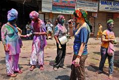 Vreemdelingen in India Stock Afbeelding