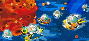Vreemdelingen onderworpen - ufo - starships royalty-vrije illustratie