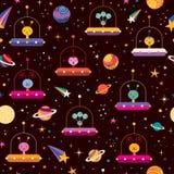 Vreemdelingen ruimtepatroon Stock Afbeeldingen
