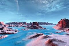 Vreemdere planeten Stock Foto's