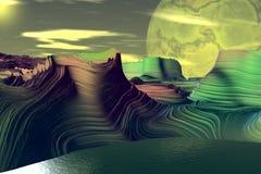Vreemdere planeten royalty-vrije illustratie