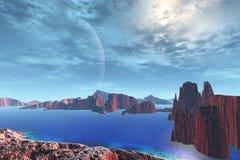 Vreemdere planeten Royalty-vrije Stock Afbeeldingen