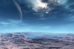 Vreemdere planeten stock illustratie