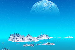 Vreemdere planeten Stock Foto