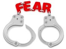 Vrees als handcuffs royalty-vrije illustratie