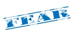 Vrees blauwe zegel stock illustratie